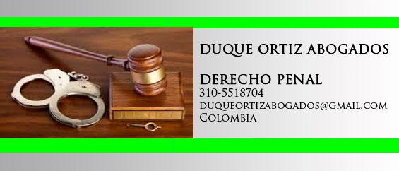 ABOGADOS PENALISTAS - DERECHO PENAL COLOMBIANO