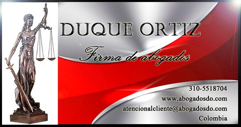 FIRMA DE ABOGADOS DUQUE ORTIZ